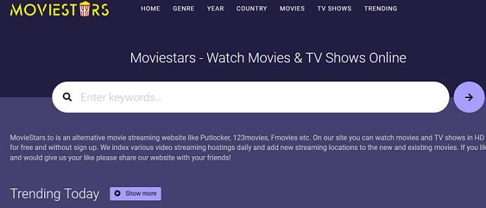Moviestars website
