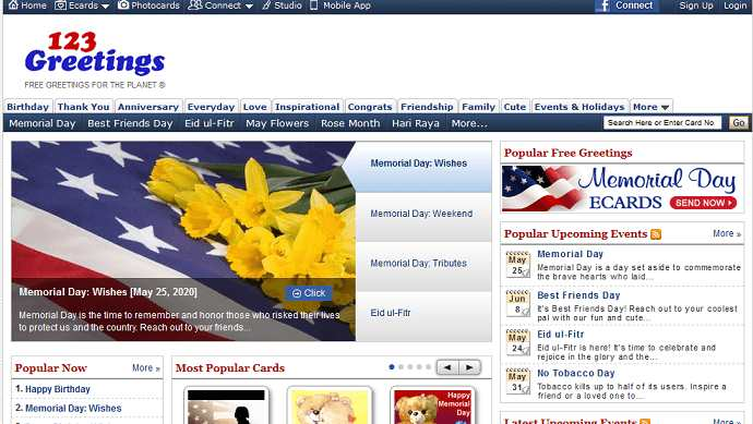 123greatings website