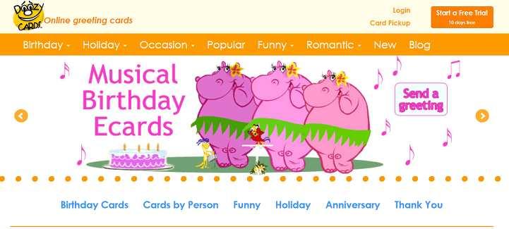 DoozyCards website