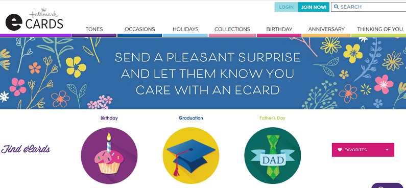 HallmarkeCards website