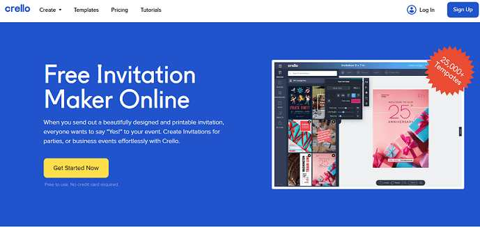 Crello website