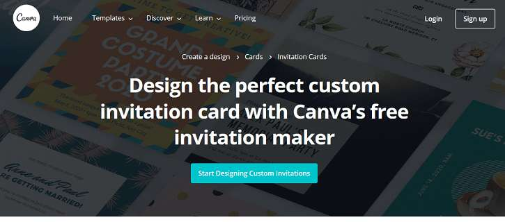 Canva website