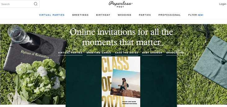 PaperlessPost website