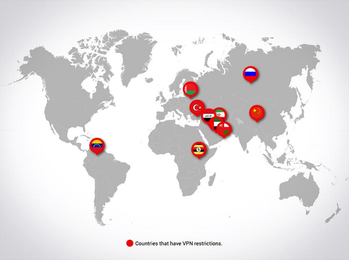 VPN restricted countries