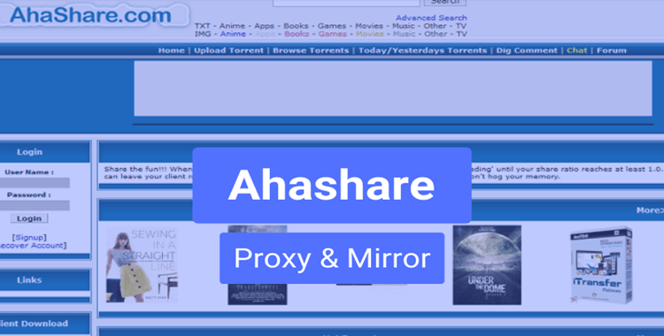 AhaShare Proxy and Mirror Sites (Working Links)