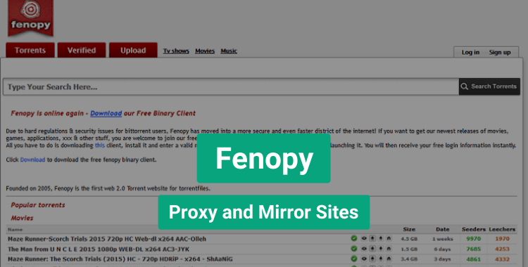 Fenopy Proxy and Mirror Sites