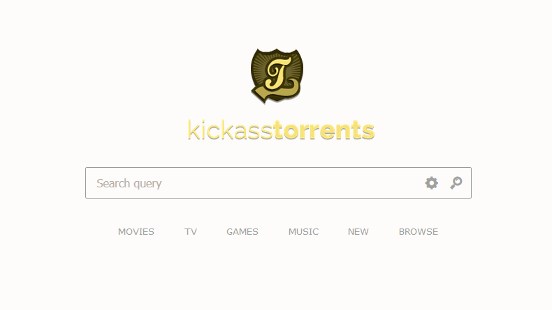 KickassTorrents website