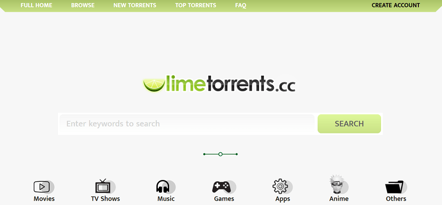 Limetorrents website
