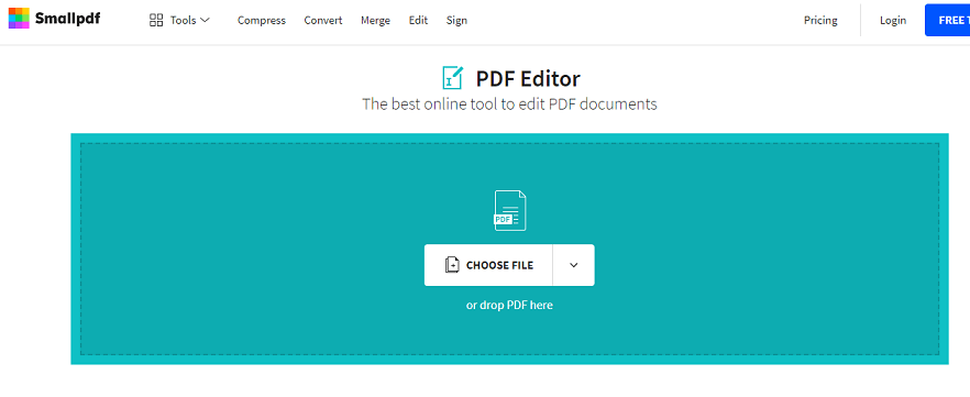 SmallPDF website
