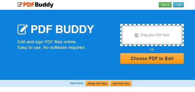 PDF Buddy website