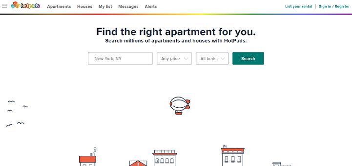 Hotpads website
