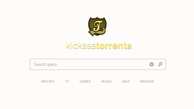 KickassTorrents website