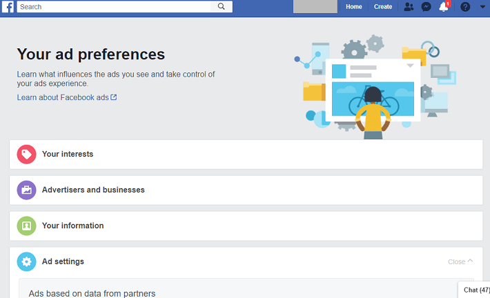 Facebook Ad preference