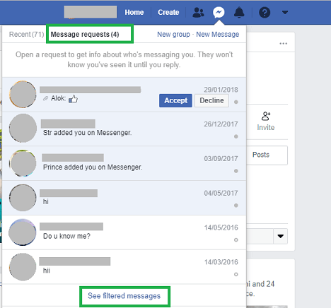 Facebook's message