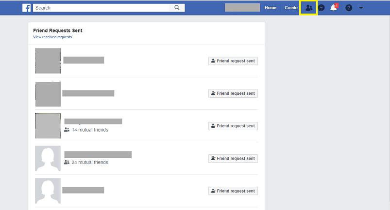 Facebook friend request