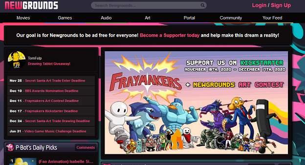 NewGrounds website