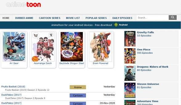 AnimeToon website