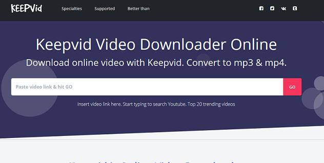 Keepv YouTube to MP4 converter