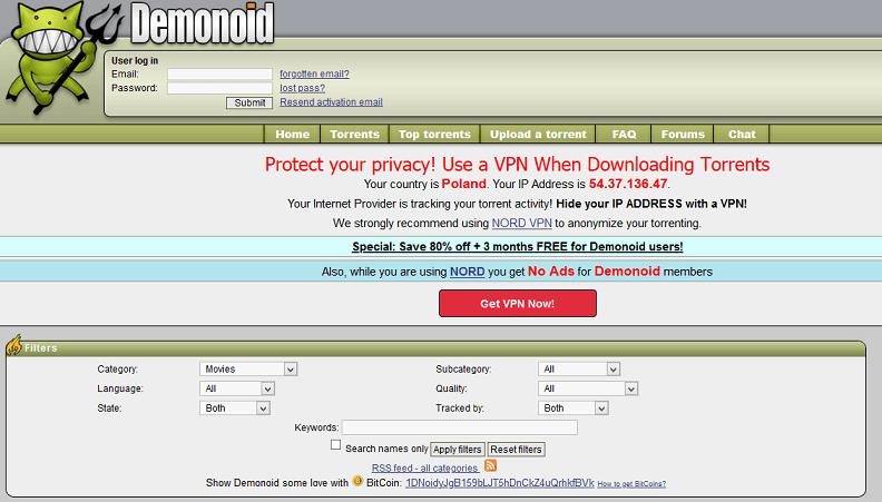 Demonoid website