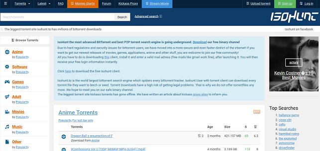 ISOHunt website