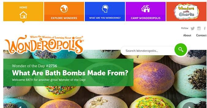 Wonderpolis website