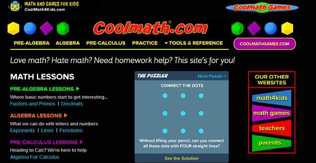 Cool Math website