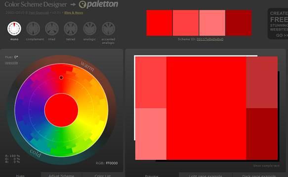 Color Scheme Designer website
