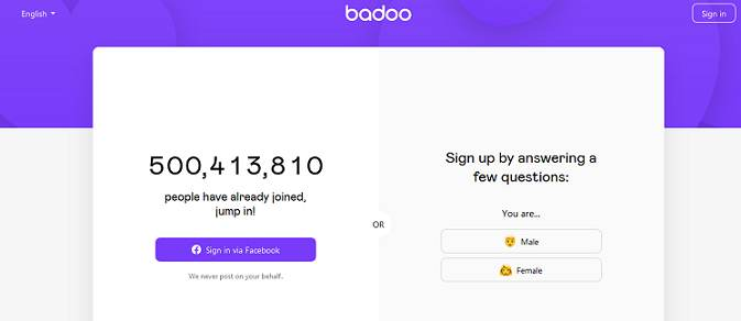 Badoo website