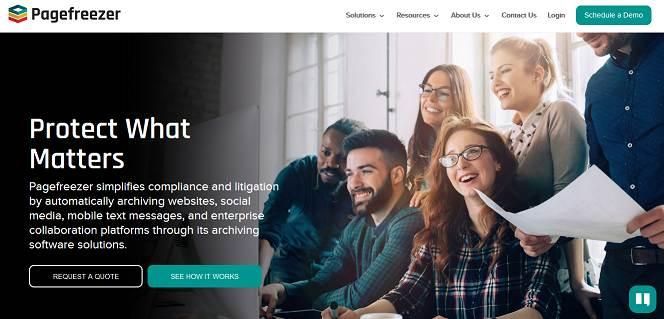 PageFreezer website