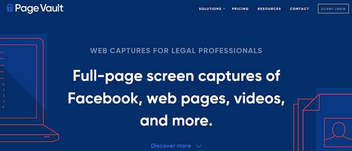 PageVault website