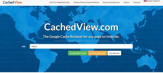 CachedView website