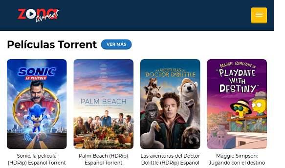 ZonaTorrent website