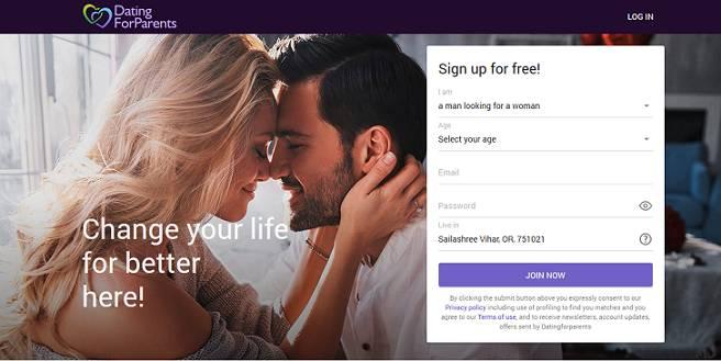 Dating for Parents website