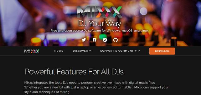 Mixxx software for beat making