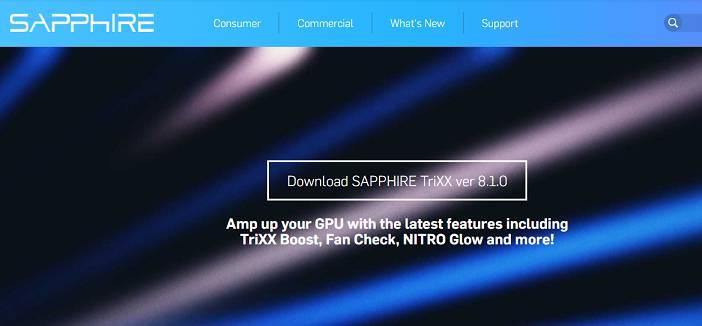 Sapphire TriXX Utility software