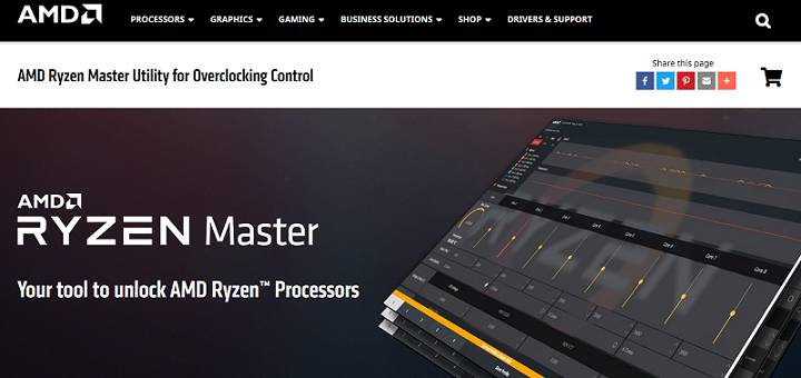 AMD Ryzen Master software