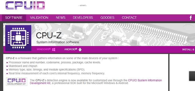CPU - Z software