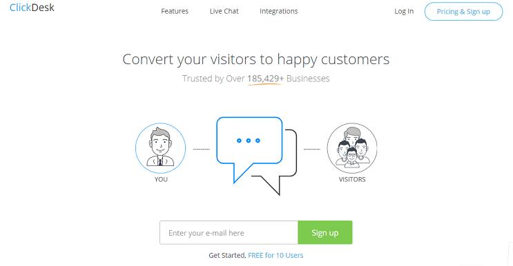 ClickDesk website
