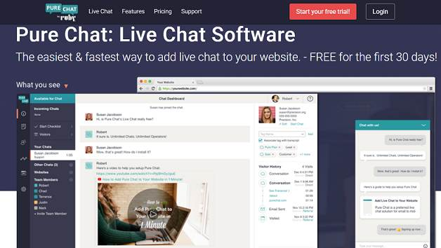 Pure Chat website