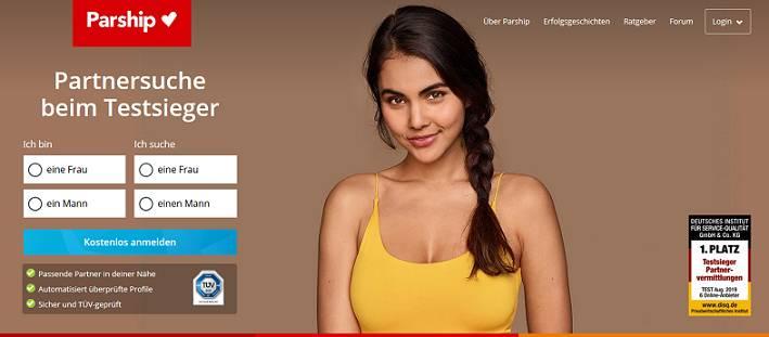 Parship website for German singles