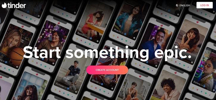 Tinder website