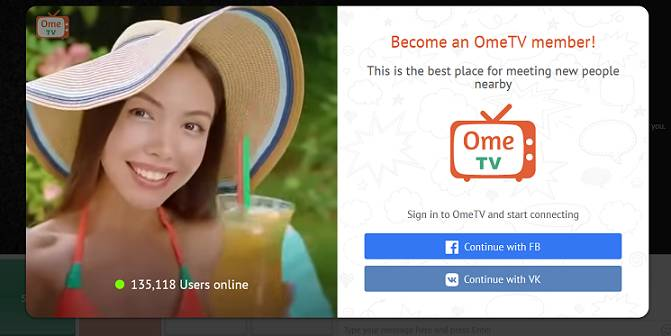 Ome.tv website