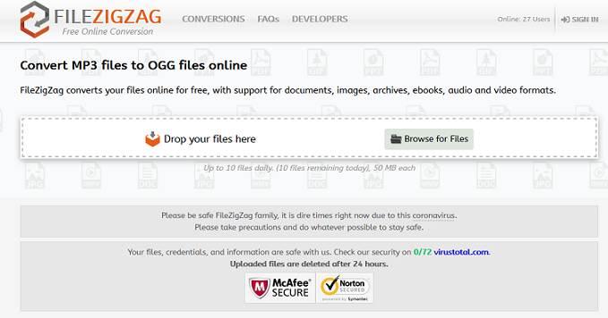 Filezigzag website