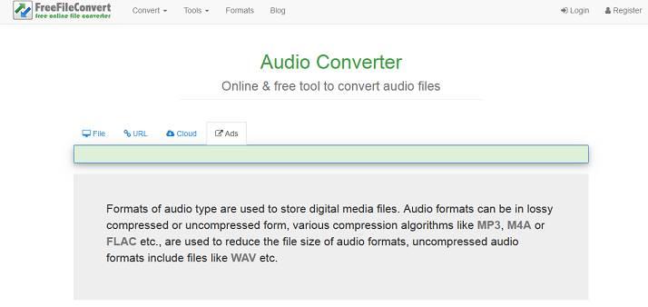 FreeFileConvert website