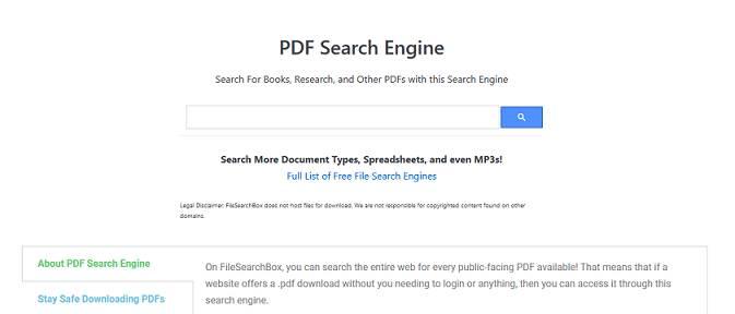 Filesearchbox website