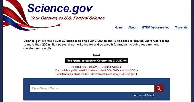 Science.gov website